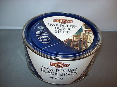 Liberon Neutral Black Bison Paste Wax 500ml
