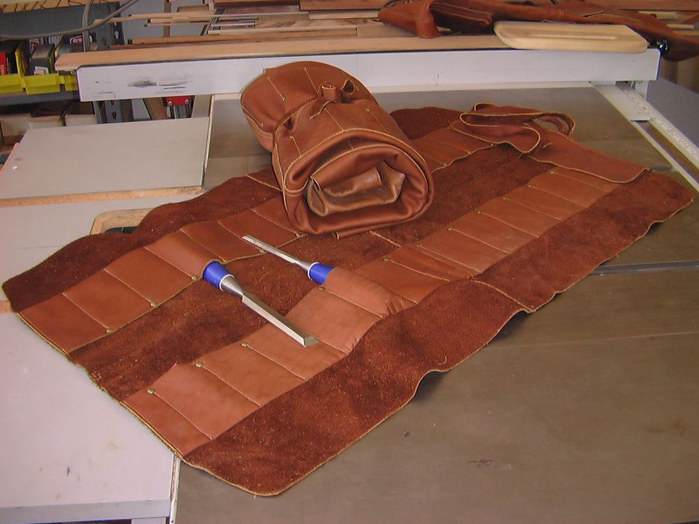 "Leather XL Chisel Roll 32.5"" x 12"""