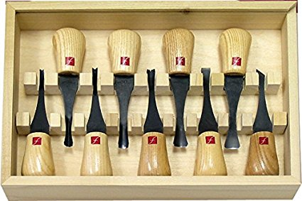 Flexcut Deluxe Palm Gouges, set of 9 (FR405))