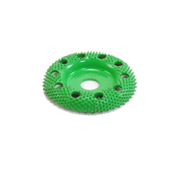 "Saburrtooth Power Carving 2"" Donut Wheel w/Holes Coarse Grit (green)"