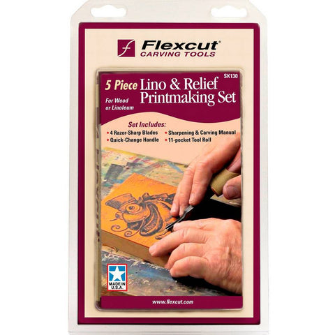 Flexcut 5pc. Lino & Relief Printmaking Set SK130