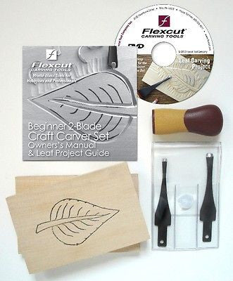 Flexcut SK111 Beginner 2 bladeCraft Carver Set