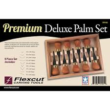 Flexcut Premium Deluxe Palm Tool9 pc.Set. New Item #FRP405
