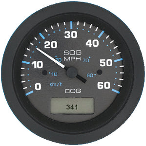 "Sierra Eclipse Series 3"" Black GPS Speedometer with GPS Receiver Sender Code"