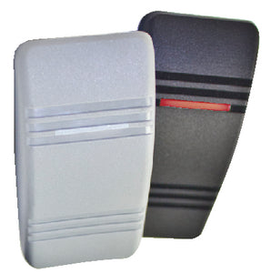 Contura III<sup>&reg;</sup> Illuminated Weather Resistant Rocker Switch&#44; On/Off&#44; Gray & Black
