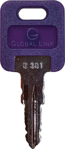 AP Products Pre-Cut Replacement Key for Global Locks, #347 5/Pk