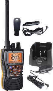 CobraMarine 6 Watt Floating Handheld VHF Radio with Bluetooth Wireless Technology & Rewind-Say-Again