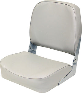 "Wise 3313717 Promotional Marine Grade Vinyl 16.25"" D + 16"" W + 18"" H Low Back Boat Seat, Grey"