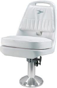 Wise Standard Pilot Chair Package With Chair, Cushions, Mounting Plate, Pedestal and Seat Spider - White