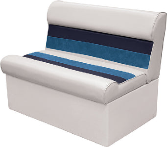 "Deluxe Pontoon Furniture, 36"" Bench, White/Navy/Blue"