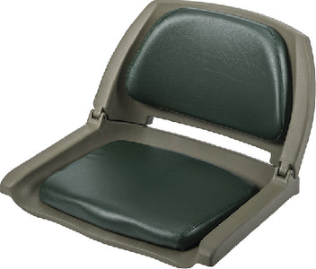 Wise 8WD139LS713 Deluxe Molded Plastic Fold-Down Seat w/Cushions, Green/Green Shell