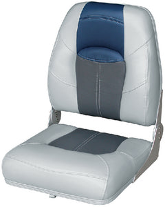 "Blast Off Tour Series Boat Seat 17"" Grey/Charcoal/Navy"
