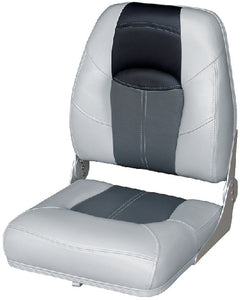 "Blast Off Tour Series Boat Seat 17"" Grey/Charcoal/Black"