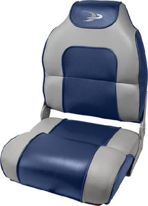Wise 8WD258PLS-900 Alumacraft Style High Back Fishing Seat - Marble Grey/Midnight Navy