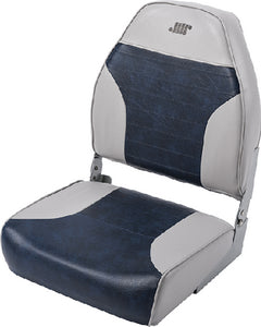 Wise Mid Back Fishing Seat, Grey/Navy