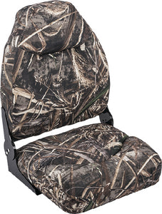 Wise 8WD726PLS733 Mid Back Camouflage Boat Seat w/Contoured Foam, Real Tree Max 5