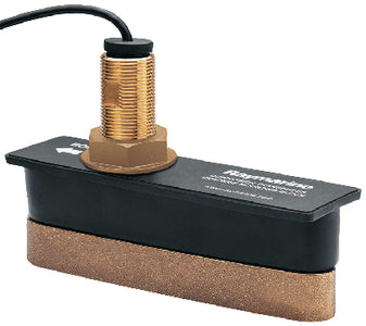 Raymarine CPT-120 Bronze Through Hull Transducer W/10M Cable - Includes High Speed Fairing Block