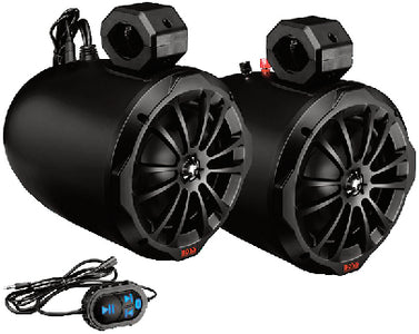 "Boss Audio B82ABT 2-Way Amplified Marine Grade Roll Cage/Waketower Speaker Pods, 8"", 1 pr."