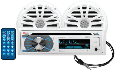 "Boss CD/USB/SD, MP3, WMA, FM/AM Player/Bluetooth w/6.5"" Speakers"