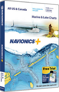 Navionics+ Computer Software, Central & S. America, MSD Card