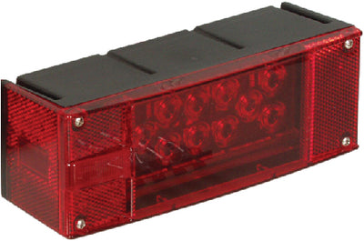 Optronics ST17RBP Waterproof Low Profile 8 Function Driver Side Universal Marine Tail Light & License Plate Illuminator