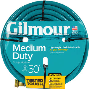 "Gilmour 15058050 Medium-Duty Hose, 5/8"" x 50'"