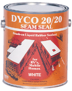 Dyco 2020GAL 20/20 Seam Seal, White, Qt., 6/case