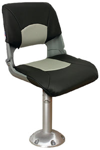 Springfield Skipper Chair Package (Includes Seat With Cushions, Pedestal & Floor Base and Locking Swivel)