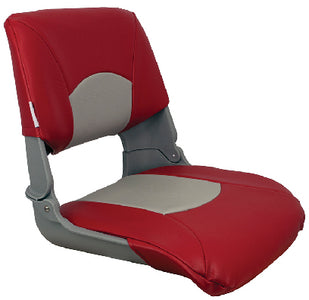Springfield Skipper Seat With Cushions, Red/Gray/Gray Shell