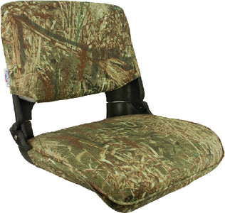 Springfield Skipper Seat With Cushions, Mossy Oak Duck Blind/Black Shell