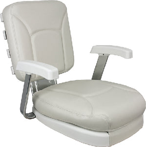 Springfield Ladder Back Seat With White Cushions and Gimbal