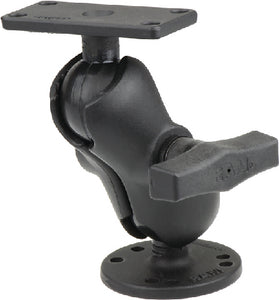 "RAM 1.5"" Ball Mount with 2.5"" Round Base & 2"" x 4"" Plate for the Humminbird Helix 7 ONLY"