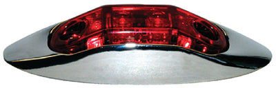 Anderson LED Clearance/Side Marker Light Kit With Chrome Bezel