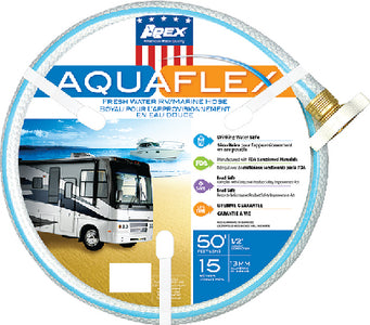 "Aquaflex White Hose, 1/2"" x 15', 10/case"