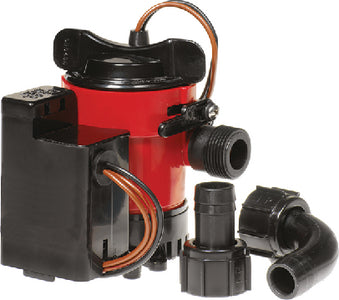 Johnson Pump Cartridge Combo Package Includes Auto Bilge Pump With Electronic Float Switch 12V