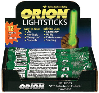 "Orion 6"" Lightsticks, 24 Piece Display"