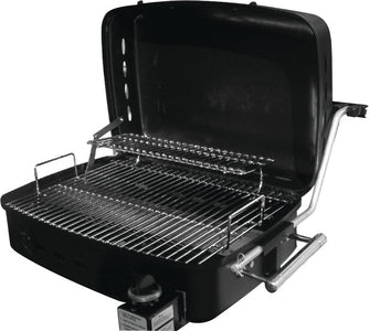 Outdoors Unlimited RVAD650 Sidekick Grill w/bracket, Mounting Rail & LP Adapter, Stainless Steel