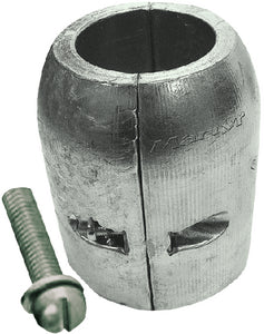 Clamp Shaft Aluminum Anode With Slotted Screw, 70mm