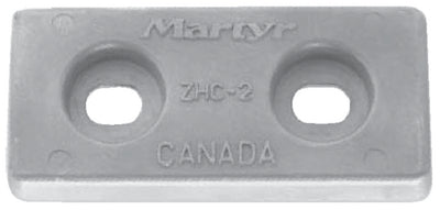 "Martyr CMZHC2 Aluminum Hull Anode, 2.65"" x 5.75"""