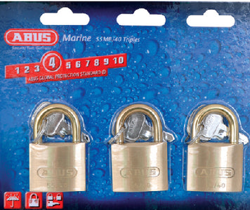 Padlock Brass 1-1/2 Ka 3/Cd