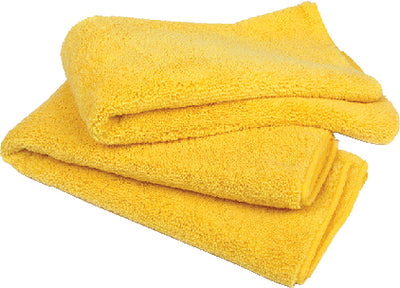 "Buffalo Microfiber Detail Towels 20"" x 20"", Yellow, 15/pk"