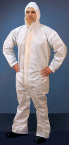 Buffalo Microporous Disposable Coverall With Hood, Lg