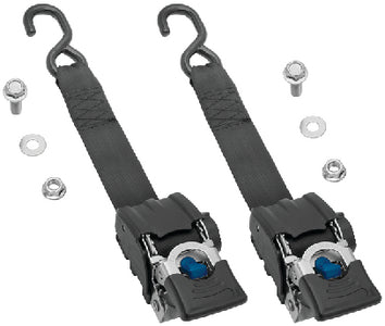 "Fulton Heavy Duty 2"" x 43"" 833 lb Work Load Retractable Transom Ratchet Tie Down - 2 Pack"