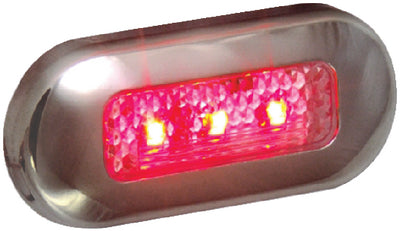T-H Marine LED Oblong Courtesy Light With Stainless Steel Bezel
