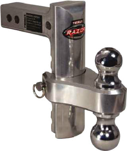 "Trimax TRZ4AL-RP Adjustable Aluminum 4"" Drop RV Trailer Hitch"