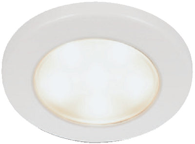 Hella EuroLED 95 Multivolt 10-33V DC White Light Downlight, White Plastic Rim