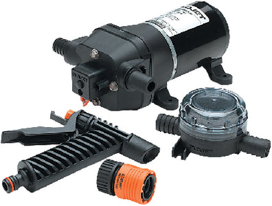 Quad Series Washdown Pump w/Strainer & Nozzle