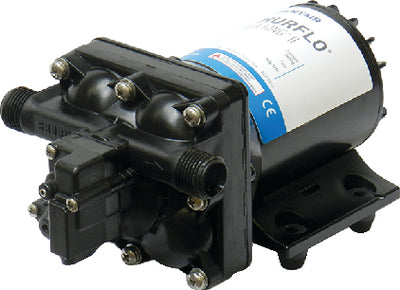 "Shurflo 4128-110-E04 Aqua King II Black 30 PSI 12V 2 GPM 3.5 Amp Automatic Fresh Water Pump 8 1/8"" x 5"" x 4 1/8"""