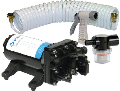 SHURFLO ProBlaster II Washdown Pump Kit 12VDC (Includes Blaster Nozzle and Raw Water Strainer)