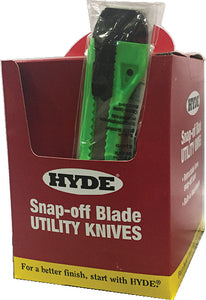 Hyde 49697 Assorted Color Snap Knife Display Bucket 18mm 25/pk